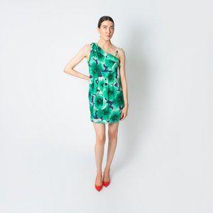 Love Moschino Shamrock Print Silk Dress